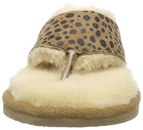 Shepherd - Zapatillas de estar por casa para mujer, color marrón, talla 40 EU