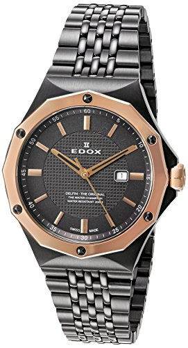Edox-Womens-54004-37GRM-GIR-Delfin-Analog-Display-Swiss-Quartz-Grey-Watch