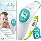 Clinical Non-Contact Baby Forehead Thermometer NEW 2016 EDITION with Bonus Fast Flexible Tip Waterproof Digital Thermometer for Infants & Toddlers | Instant Read Professional Infrared No Touch Scanner
