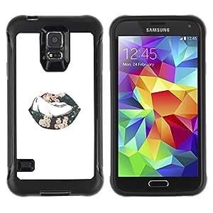 Paccase / Suave TPU GEL Caso Carcasa de Protección Funda para - Sexy Minimalist Lips Tongue Kiss Passion - Samsung Galaxy S5 SM-G900