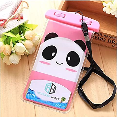 Universal Waterproof Bag Neck Strap, Cartoon Panda Design Case Cover Holder For iPhone 6 6S 7 Plus Galaxy S7 S7 Edge Note 3 4 5 and Other Mobile Phones (Waterproof (S3 Cases Mickey Mouse)