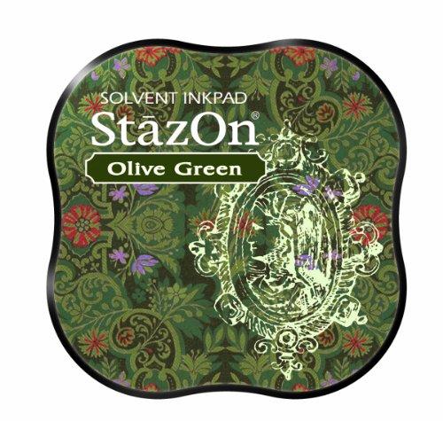 Tsukineko StazOn Midi Pad, Olive Green
