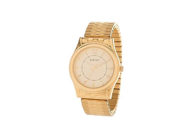 Parfois - Reloj Elastic - Mujeres - Tallas M - Dorado: Amazon.es: Relojes