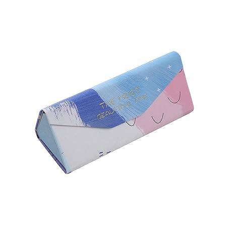 JUNGEN Funda Plegable para Gafas Estuche Triángulo para Gafas de Sol con Cierre Magnético, Estilo de Color Mixto