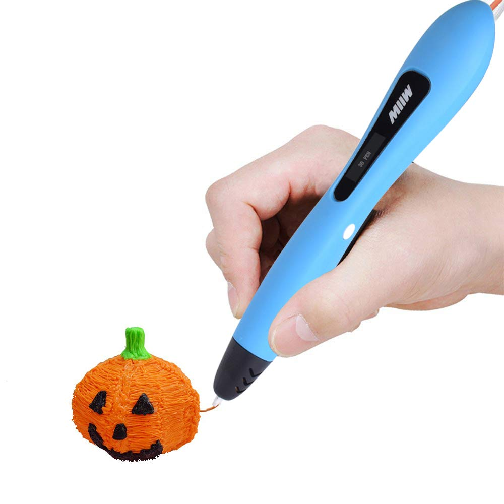3D Pen, MIIW 3D Printing Pen with PCL Filament Non-Toxic 3D Drawing Printer Pen with OLED Display Creative Gift for Kids Adults DIY Arts Crafts – Pink&Blue