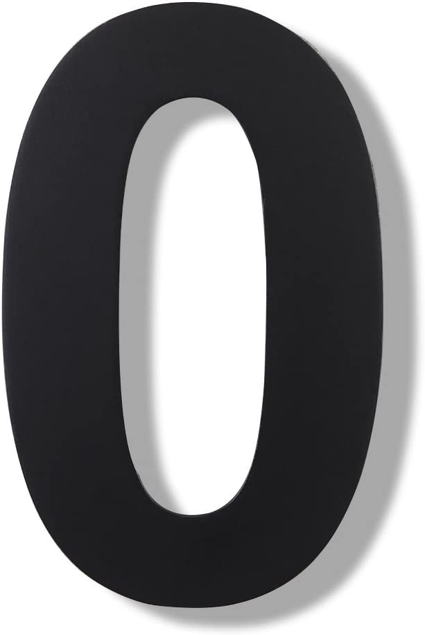Mellewell Modern Floating House Numbers, Super Large 12 Inch, Black Finish, Stainless Steel 18-8