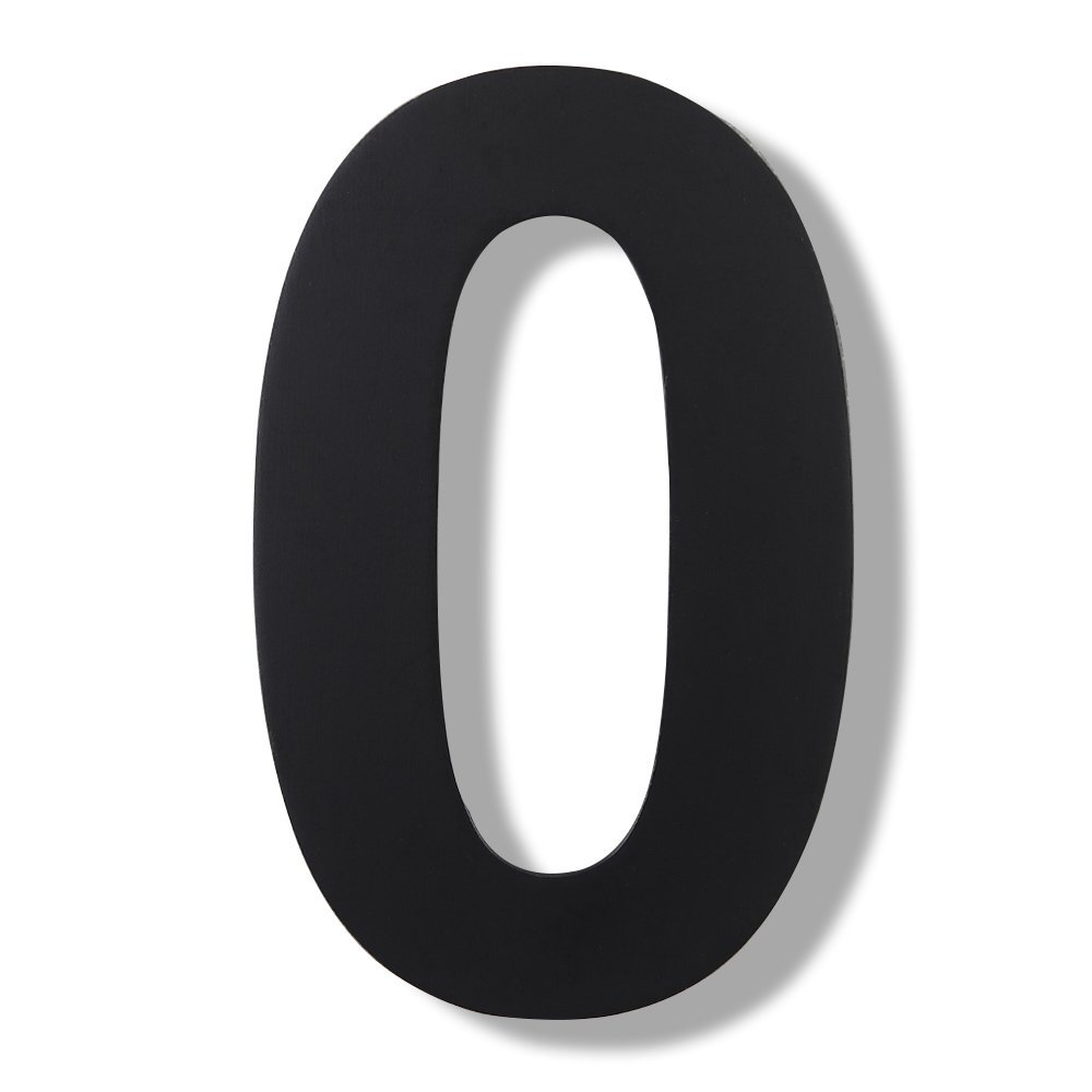 Mellewell Modern Floating House Numbers, Super Large 12 Inch, Black Finish, Stainless Steel 18-8, Number 1 One HN12B-1