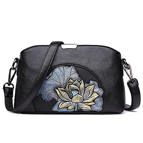 Bag Retro Bag C Small Soft Shopping Flower Bag Leather Bag Messenger Party Print Shoulder Pu Zxcb W4w7HqA04