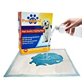 Cheap Standard Puppy Training Potty Pads : 50 Ultra-Absorbent Waterproof, Thick, Padded with 5-Layers plus FREE Dog Name Tag ; By PuppyPad‏