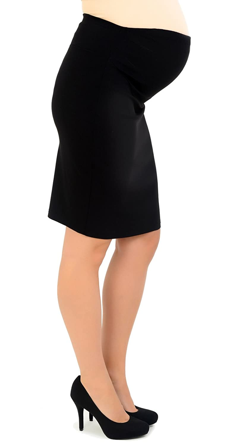 Maternity Pencil Skirt - Over the Bump - Ideal for Work/Office