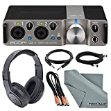 Zoom UAC-2 Two-Channel USB 3.0 Audio Interface Deluxe Bundle with Headphones + Cables + Fibertique Cleaning Cloth