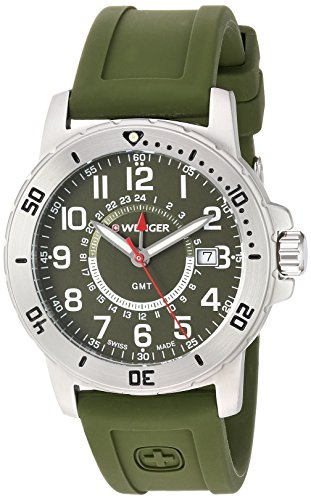 Wenger-Mens-Off-Road-GMT-Swiss-Quartz-Stainless-Steel-and-Silicone-Casual-Watch-ColorGreen-Model-011342103