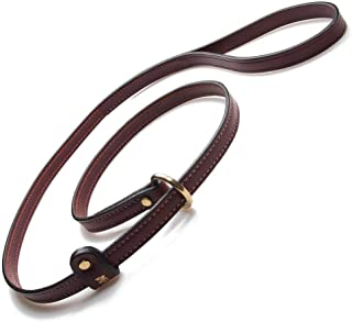 product image for Mendota Pet Leather Slip Leash - Dog Lead - Made in The USA - Chestnut, 5/8 in x 6 ft Standard