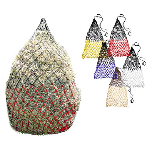 """Derby Originals Superior Slow Eater Soft Mesh 42"""" Slow Feed Hay Nets (Red/Black)"""