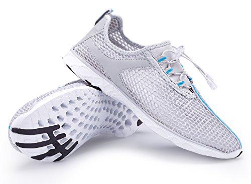 Der Netz-Beleg der A-PIE Frauen auf schnell trocknenden Wasser-Schuhen Grau