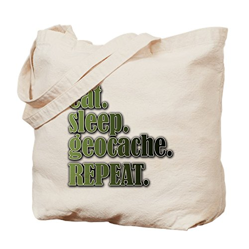 Sleep Geocache CafePress Shopping Bag Eat Repeat Bag Natural Tote Canvas Cloth qEE54wx