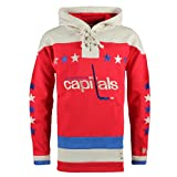 NHL Washington Capitals Men's Alternate Lacer Heavyweight Hoodie, X-Large, Red