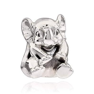 c8734c5e20ede Pandora Women's 791902 Lucky Elephant Charm, Silver