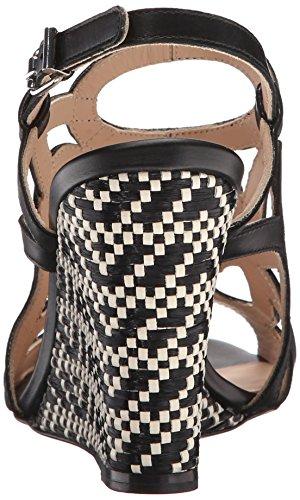 Women Wedge Black Sandal Anil Calf Sana Aquatalia aS6dn