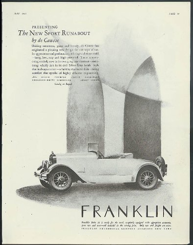 Presenting the New Sport Runabout by de Causse Franklin automobile ad 1925 ()