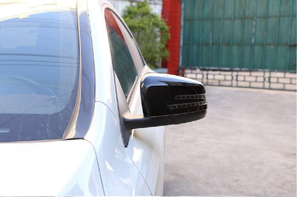 Tianrui Crown Lot de 2 capuchons de r/étroviseur en ABS chrom/é pour Merceds Bez A CLA GLA GLK Classe W176 W117 X156 X204 Noir brillant