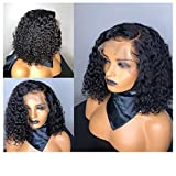 Best Full Lace Wig Glues - Yiwanjia Natural Black Short Wigs Micro Wave Curly Review
