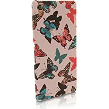 iGadgitz '3D Designer Collection' Butterfly Pattern PC Hard Back Case Cover for Sony Xperia Z3 D6603 D6633 + Screen Protector