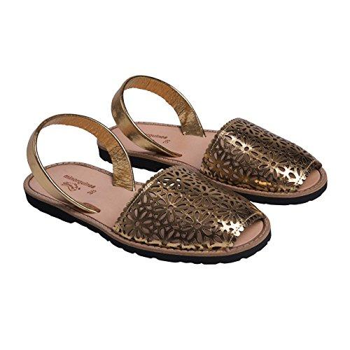 Avarca Oxido Minorquines-Sandalias de porcelana, diseño de mujer Dorado - oro
