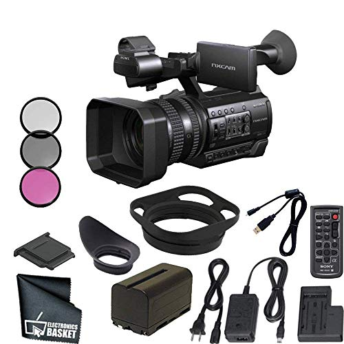 + HDMI Cable 3PC Filter Kit Sony HXR-NX3//1 NXCAM Professional Handheld Camcorder 32GB Bundle 10PC Accessory Kit AC//DC Rapid Home /& Travel Charger Includes 2 Replacement F970 Batteries UV-CPL-FLD Microfiber Cleaning Cloth