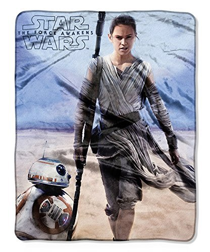 Star Wars Rey & BB-8 Silky Soft Plush Throw Blanket 40