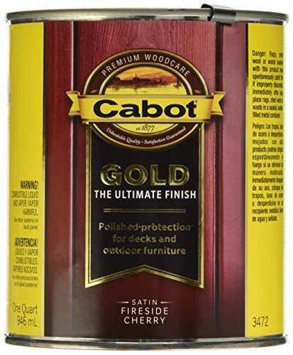 Cabot Stain - Cabot/Valspar 3472-05 1 Quart Fireside Cherry Wood Finish Stains