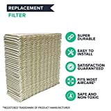 "Think Crucial 4 Replacements Aircare 1043 Paper Wick Humidifier Filter Fits Spacesaver 800, 8000 Series Console, 10.8"" x 4.2"" x 12.5"""