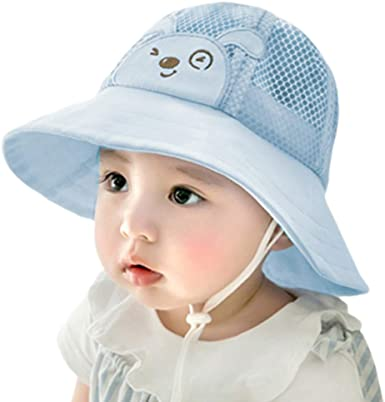 Baby Toddler Kids Outdoor Beach Sun Hat Summer Wide Brim Sun Protection Cap