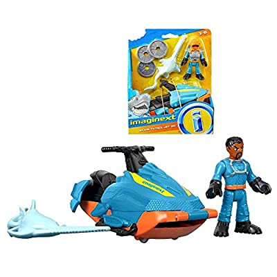 Imaginext Shark Patrol Jet-Ski, Sawfish and Diver 2.5 Inch Figure: Toys & Games