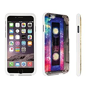 DuroCase ? Apple iPhone 6 Plus - 5.5 inch Hard Case White - (Vintage Cassette Tape)