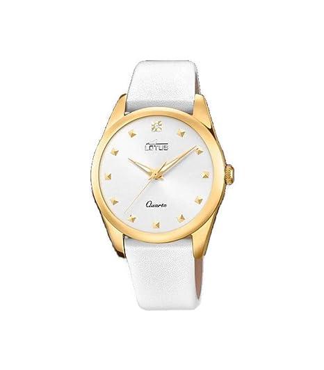 Lotus Reloj Analógico para Mujer de Cuarzo con Correa en Cuero 18643/1: Amazon.es: Relojes