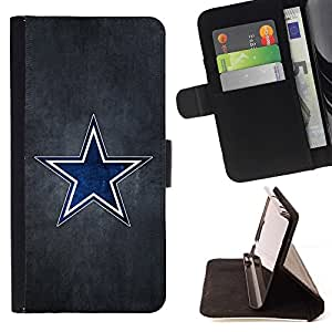 For LG Nexus 5 D820 D821 Blue Star Sports Team Beautiful Print Wallet Leather Case Cover With Credit Card Slots And Stand Function