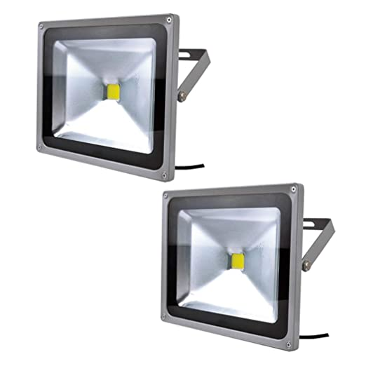 PrimLight Foco Led Exterior 2X 50W Iluminación Led de Seguridad ...