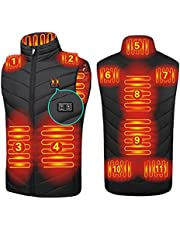 2021 Upgraded Heated Vest for Men, Dual Control Heating Jacket USB Rechargeable Waistcoat for Hunting Fishing