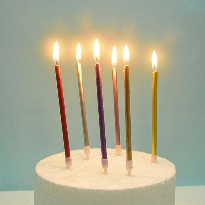 UPKOCH - Vela Decorativa para Tarta de cumpleaños (12 ...