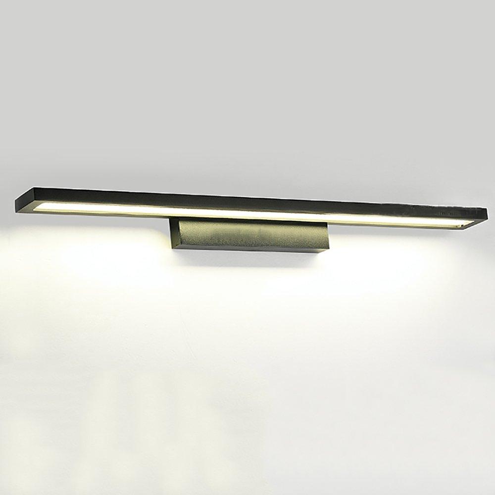 LJHA jingqiandeng アクリルLED防水ミラーフロントライトバスルームミラーキャビネットドレッシングテーブルランプトイレウォールランプ (色 : Silver-white light, サイズ さいず : 90cm-24W) B07L4BQFHF 90cm-24W Black-warm light Black-warm light 90cm-24W