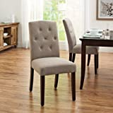 Better Homes and Gardens Parsons Dining Room Table Chair, Beige (Beige)