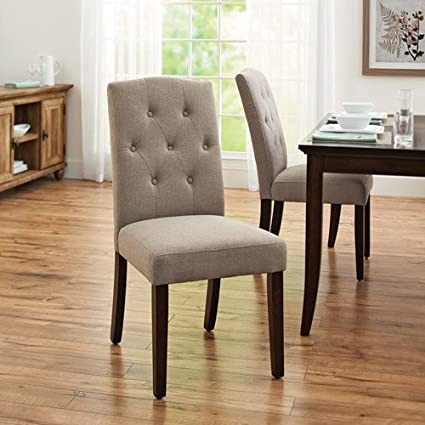 Amazon.com: Better Homes and Gardens Parsons Dining Room Table Chair ...