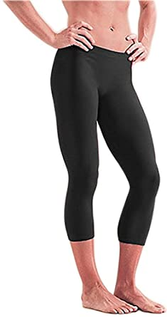 0d7dc0c49016c YEESAM Modest Swimwear - Swimsuit Ladies 3/4 Length Swim Leggings in Black  - Surfing Yoga Fitness Multipurpose UPF 50+: Amazon.co.uk: Clothing
