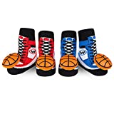 Waddle Shoe Socks Baby Socks For Boys Basketball Rattle Newborn 0-12 Month Gift