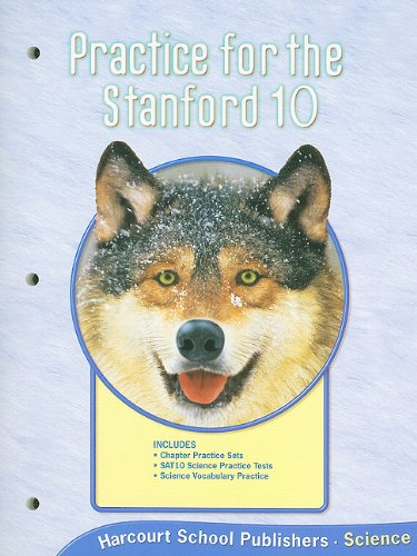 Harcourt Science Alabama: Practice For Stanford 10 Student Edition Grade 4