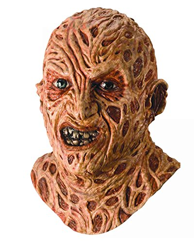 A Nightmare On Elm Street Super Deluxe Overhead Freddy Krueger Mask, Red, One Size -