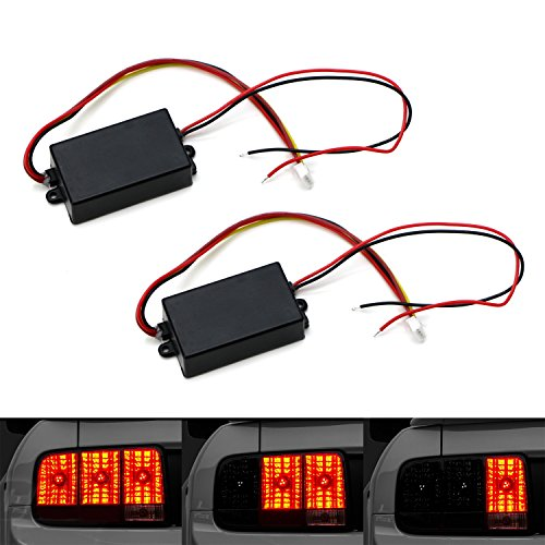 iJDMTOY (2) Universal 3-Step Sequential Dynamic Chase Flash Module Boxes For Car Front or Rear Turn Signal Light Retrofit - Light Flashers Tail Headlight