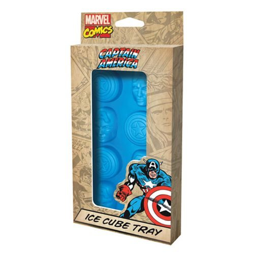 Marvel Comics Captain America Face and Shield Ice Cube Tray (Ice Marvel compare prices)