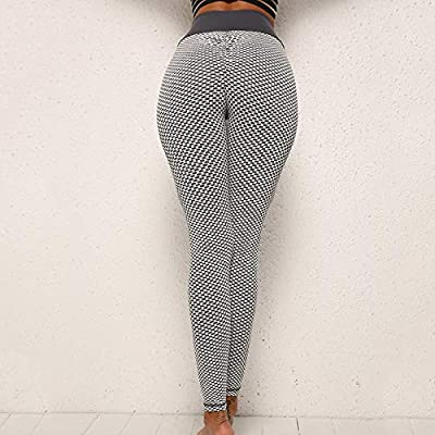 Alexsix Women High Waist Compression Leggings Knitting Tummy ...